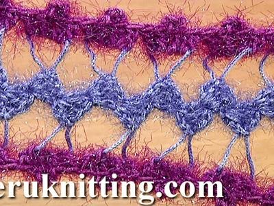 Developing Basic Strip With Additional Crochet Tutorial 31 Hairpin Lace Crochet