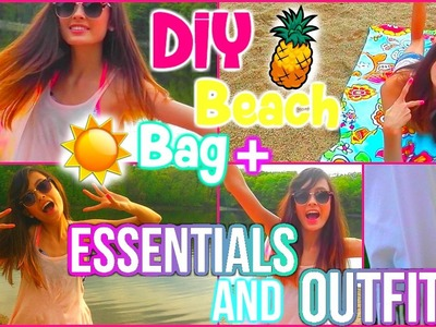 DIY Beach Bags + ESSENTIALS and Beach OUTFIT! | Mish Shelly