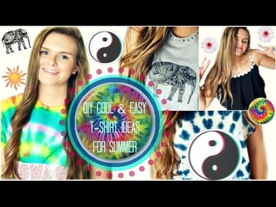 DIY: Cool & Easy T-shirt Ideas for Summer!! ☼