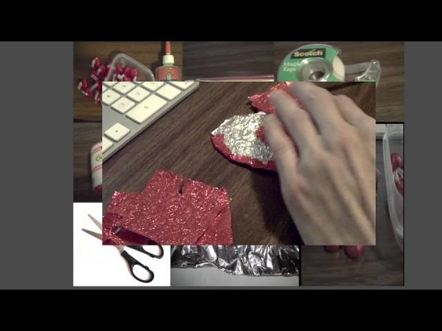 Diy How make red heart tin foil for valentine's day for all ages.