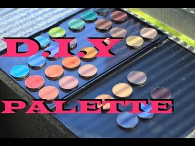 DIY Magnetic Makeup Palette. How to magnetize makeup palette