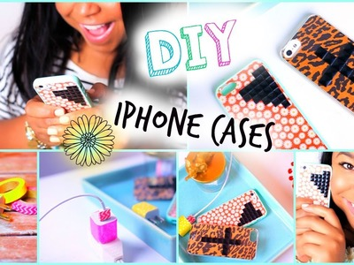 DIY Wildflower. Tumblr iPhone Case| DIY Glitter Charger
