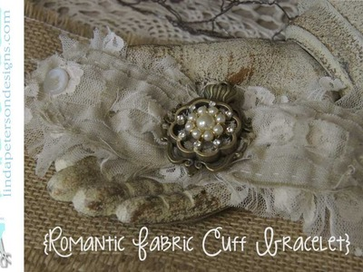 Easy to sew romantic lace cuff bracelet