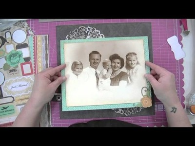 Family Story Scrapbooking Process Video From Start to Finish