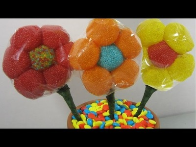 How to make a candy gum drop flower bouquet  (I✿‿✿|) - EP