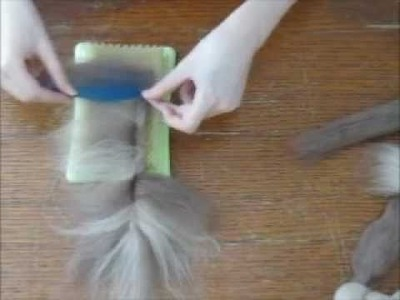 How To Make a Needle Felted Wool Feather