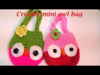 HOW TO MAKE CROCHET OWL  MINI BAG-2