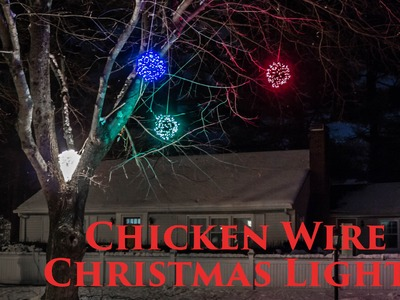 How to make Lighted Chicken Wire Christmas Balls, DIY Outdoor Christmas Decorations 2014