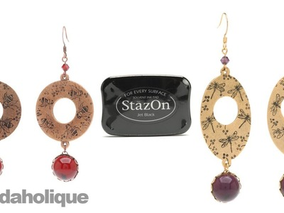 How to Use StazOn Ink and Rubber Stamps in Jewelry & Make Earrings