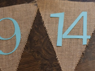 Make a Rustic Burlap Save-the-Date Banner - DIY Home - Guidecentral