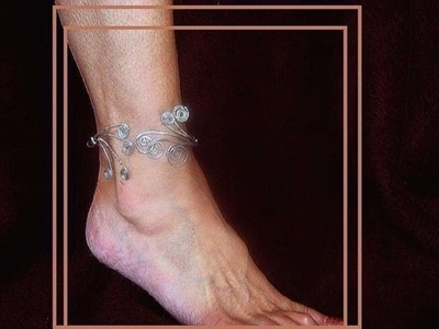 MAKE A SCROLLED WIRE ANKLET, wire jewelry, how to lesson, video tutorial