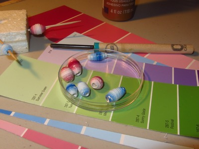 Make Paper Beads With Paint Chip Samples Paper Bead Craft