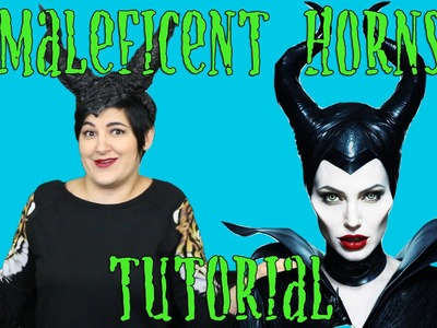 Maleficent Horn Headpiece Tutorial for Halloween - Chrissy's Craft Bar