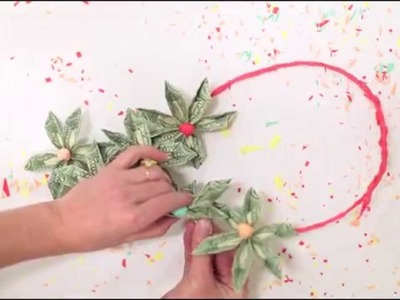 Origami money flower