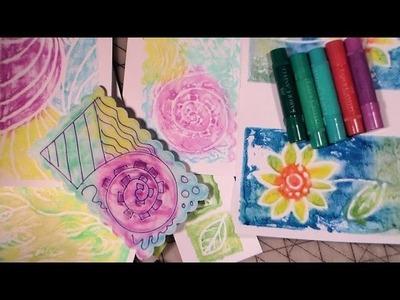 Printmaking with gelatos and craftfoam