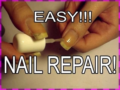 THE BEST WAY TO REPAIR A CRACKED SPLIT NAIL - SUPER EASY DIY TUTORIAL