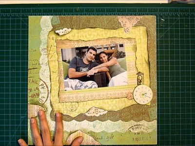 Time of our life scrapbook layout process