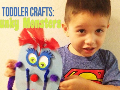 TODDLER CRAFTS: Funky Monsters, Summer Activities- The290ss