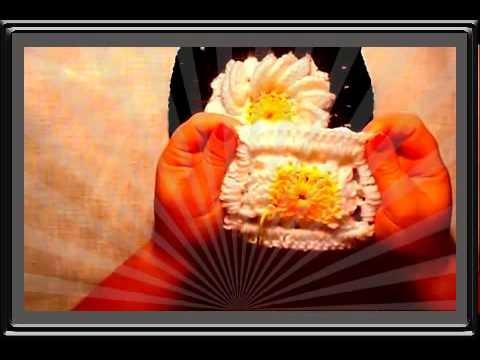 Uncinetto crochet fiore margherita how to crochet flower ganchillo flor