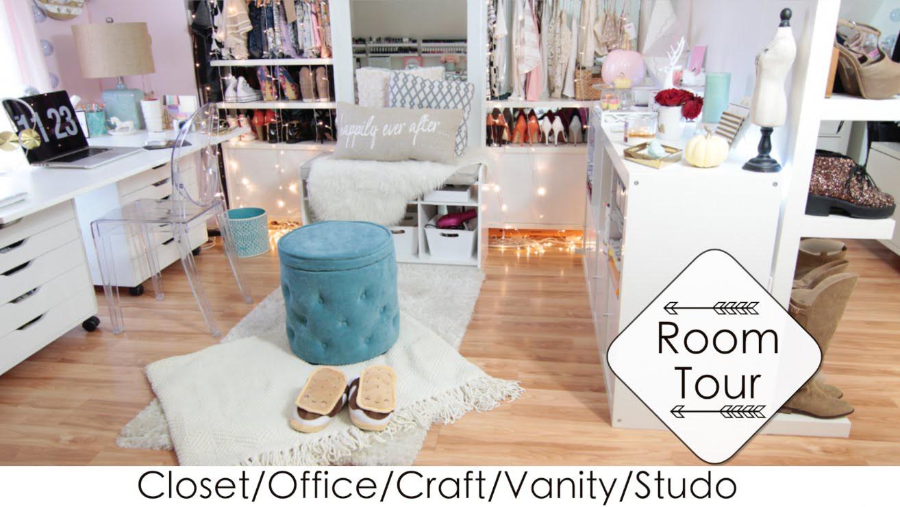 5 Into 1 Room Tour + DIYs Closet.Office.Vanity.Craft.Studio (LisaPullano)