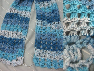 Angel Stitch Crochet Scarf Tutorial