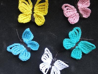 БАБОЧКА Вязание крючком  BUTTERFLY Crochet