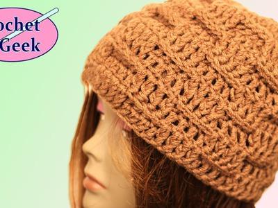 Basketweave Crochet Hat - Crochet Geek