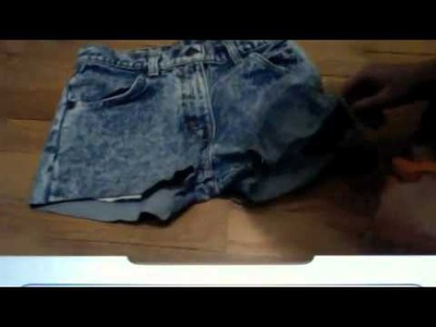 *BEST* DIY RIPPED JEANS. SHORTS TUTORIAL EVER?!?!?! :D