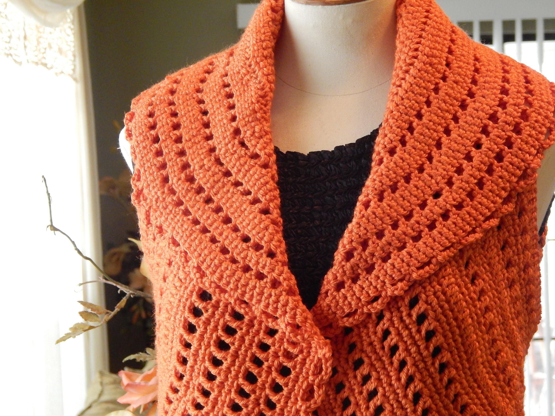 Bolero Chaleco Mandarina Crochet parte 1 de 3