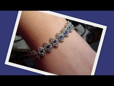Bollywood Bracelet with Tila beads Beading Tutorial by HoneyBeads1 (Photo tutorial)