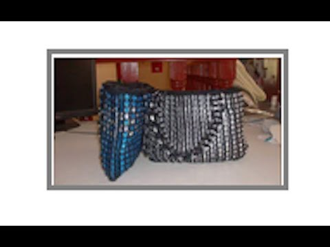 Bolsas Tejidas Arillos Lata Ganchillo, Crochet Purse Rings Recycled