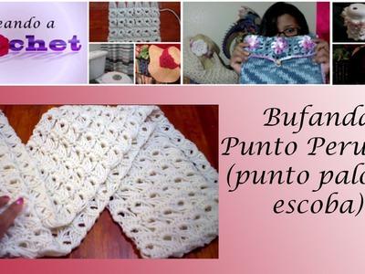Bufanda en Punto Peruano (punto palo de escoba) - Tutorial de tejido crochet