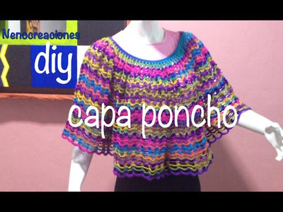 Capa Poncho Fácil y Rápido #Ganchillo #Crochet Easy Layer up DIY