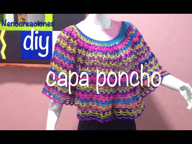 Capa Poncho Fácil y Rápido #Ganchillo #Crochet Easy Layer up DIY