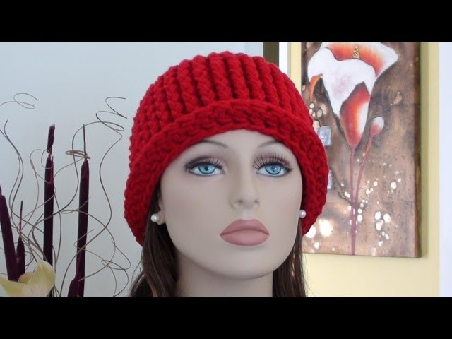 CHY Ribbed Crochet Hat - How to Crochet Ribbed Crochet Hat