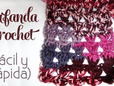 Cómo tejer: Bufanda a crochet (fácil y rápida)