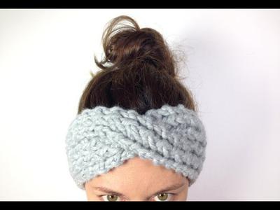 Cómo tejer una cinta turbante. diadema de lana en telar (Tutorial DIY)