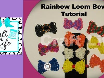 Craft Life ~ Rainbow Loom Bow Tutorial