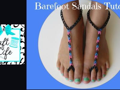 Craft Life ~ Rainbow Loom Barefoot Sandals Tutorial