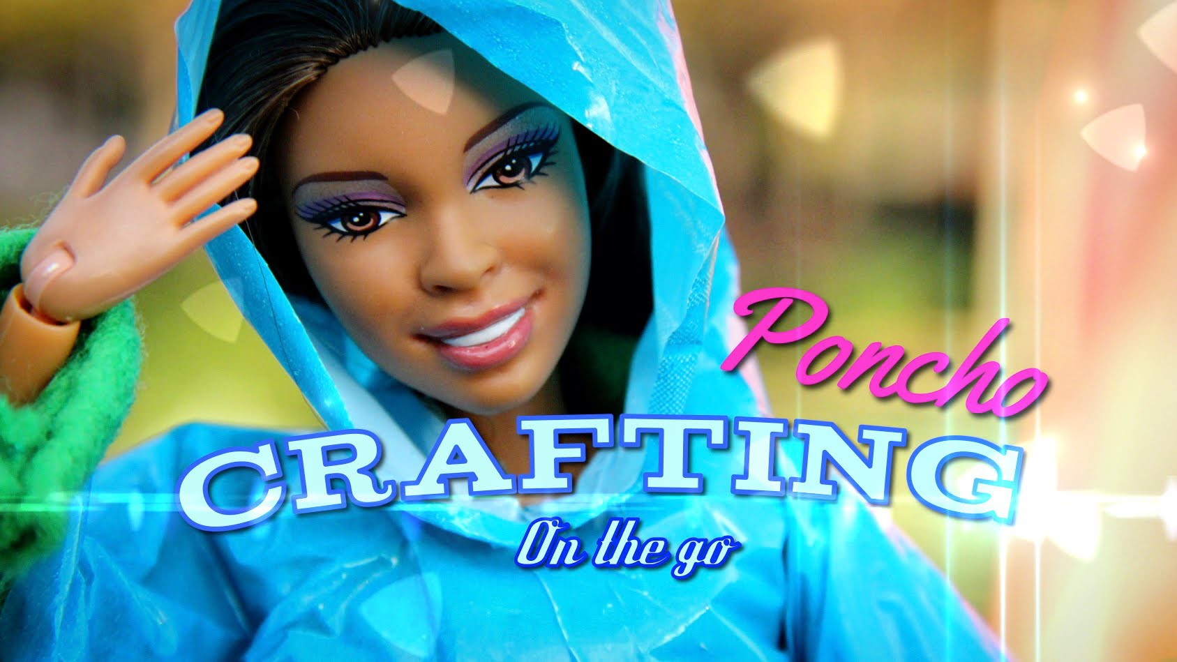 Crafting on the go: How to Make a Doll Poncho - Doll Crafts