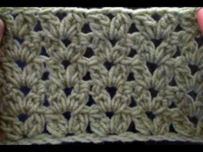 Crochet a Cluster V Stitch - Blanket Crochet Geek July 2 Video