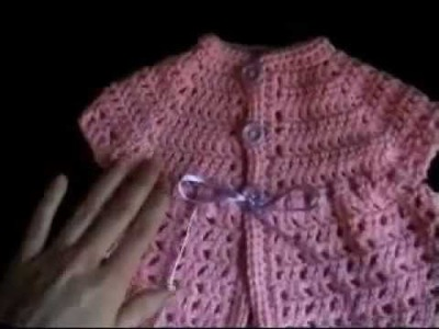 Crochet Baby Imagination Sweater Filet Stitch Part 1 of 3
