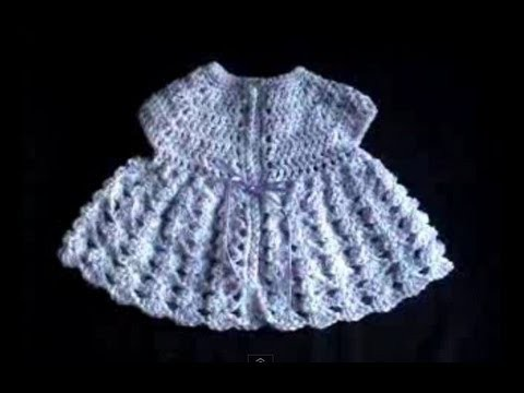 Crochet Baby Imagination Sweater Shell Stitch Part 1of 4
