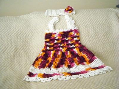 Crochet Baby Summer Dress set