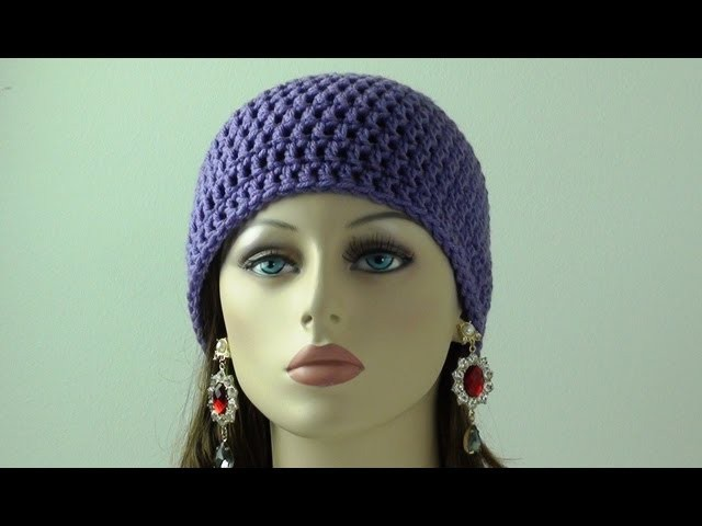 Crochet Beanie for Beginners - Adult Sizes