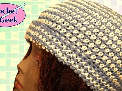 Crochet Beanie Hat - Crochet Geek November 8 Video