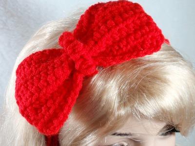Crochet Bow Tutorial, DIY