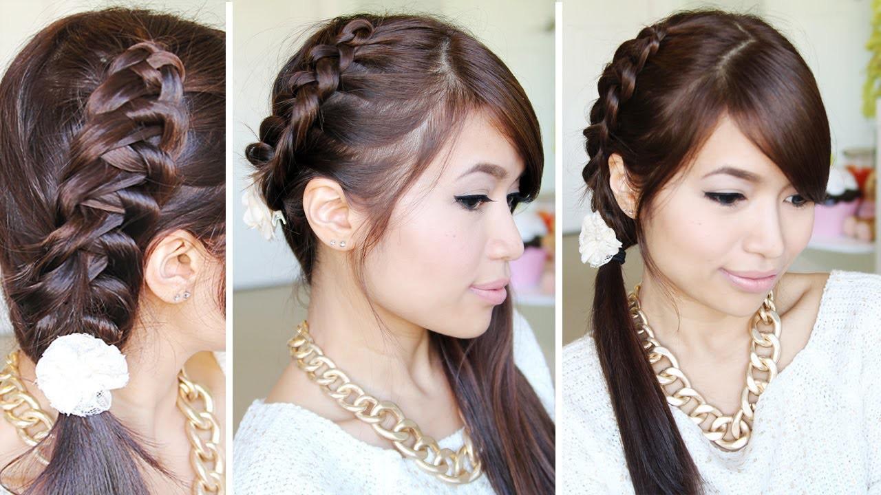 Crochet Braid Ponytail Hairstyle for Medium Long Hair Tutorial - Bebexo