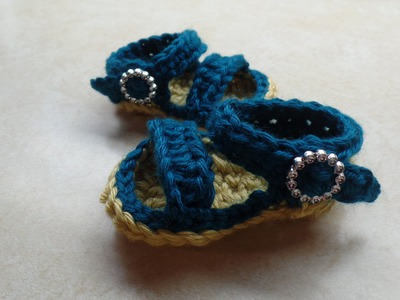 #Crochet Easy Baby Sandals Shoes #TUTORIAL