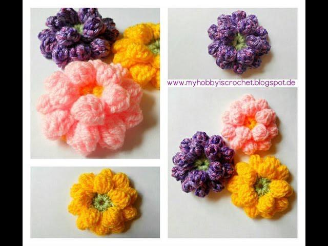 Crochet Flower Tutorial - www.myhobbyiscrochet.com